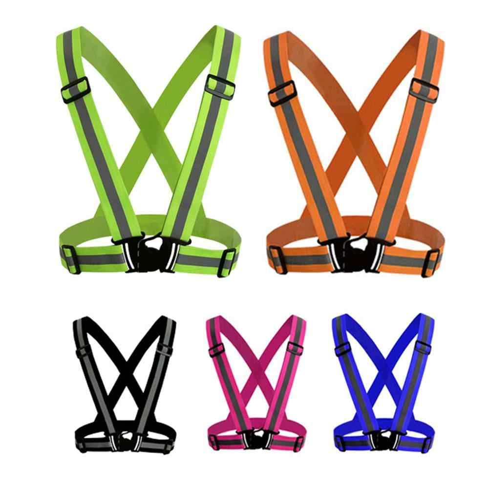 Adjustable V-shape Reflective Safety LED cycling Vest Luminous Elastic Belt  for Night Running Cycling 36f429c66