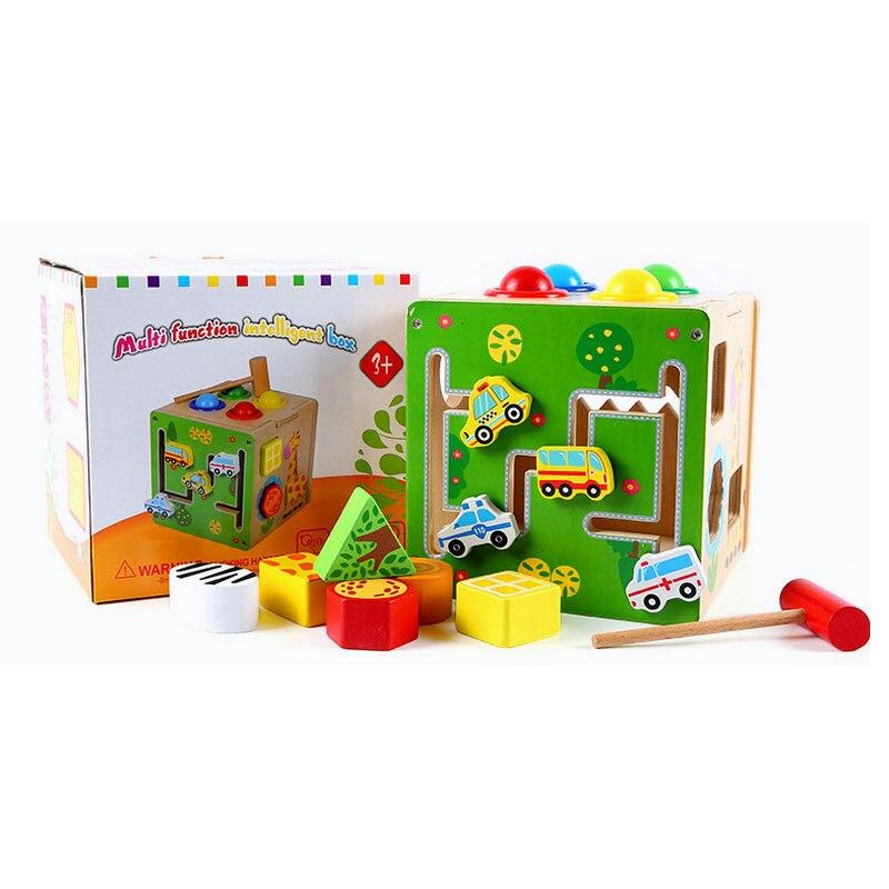 Jouets éducatifs en bois pour enfants Montessori matériel multifonctionnel Intelligent boîte pour enfants jouets bambin blocs de construction