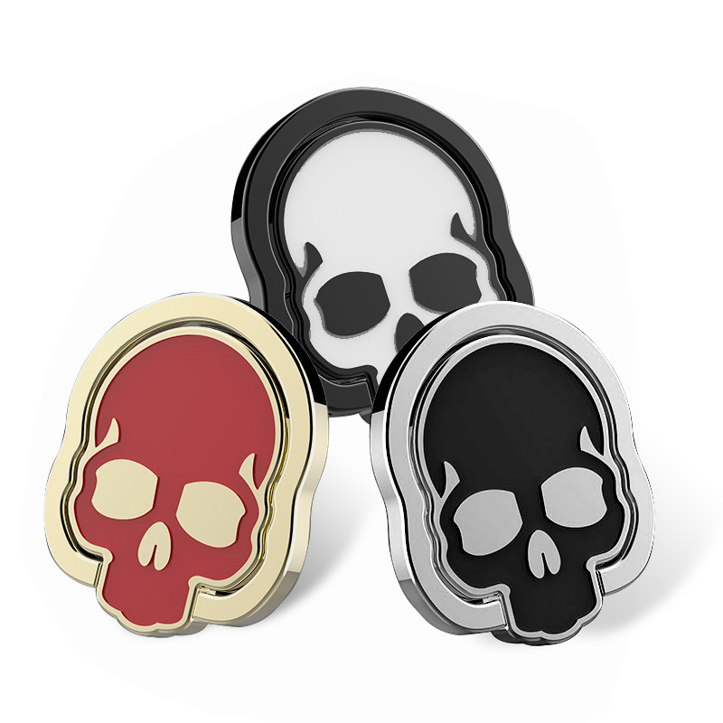 for Mobile <font><b>phone</b></font> metal Zinc alloy ring <font><b>holder</b></font> stick stand creative Skull universal Used <font><b>with</b></font> car <font><b>magnet</b></font> <font><b>holder</b></font> anti-drop