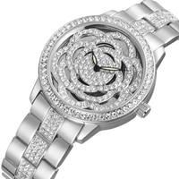 WEIQIN Top Brand Luxury Women S Watches Rhinestone Rose God Silver Bracelet Quartz Watch Fashion Ladies