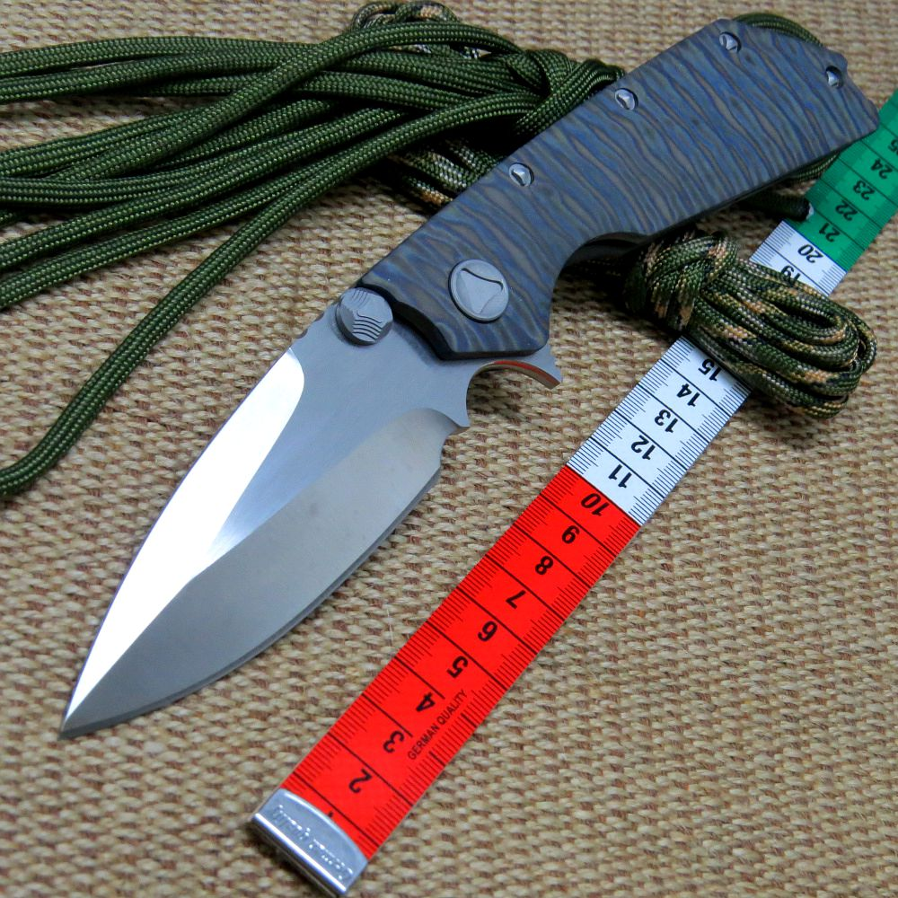 EFE D2 steel blade Bearing folding knife TC4 titanium alloy handle tactical camping outdoor EDC tool knife high quality knife bestlead chinese peony pattern zirconia ceramics 4 6 knife chopping knife peeler holder