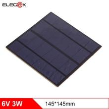 лучшая цена ELEGEEK 5pcs 3W 6V 145*145mm Solar Cell 500mAh Monocrystalline PET + EVA Laminated DIY Solar Cell for Solar Systemt and LED Test