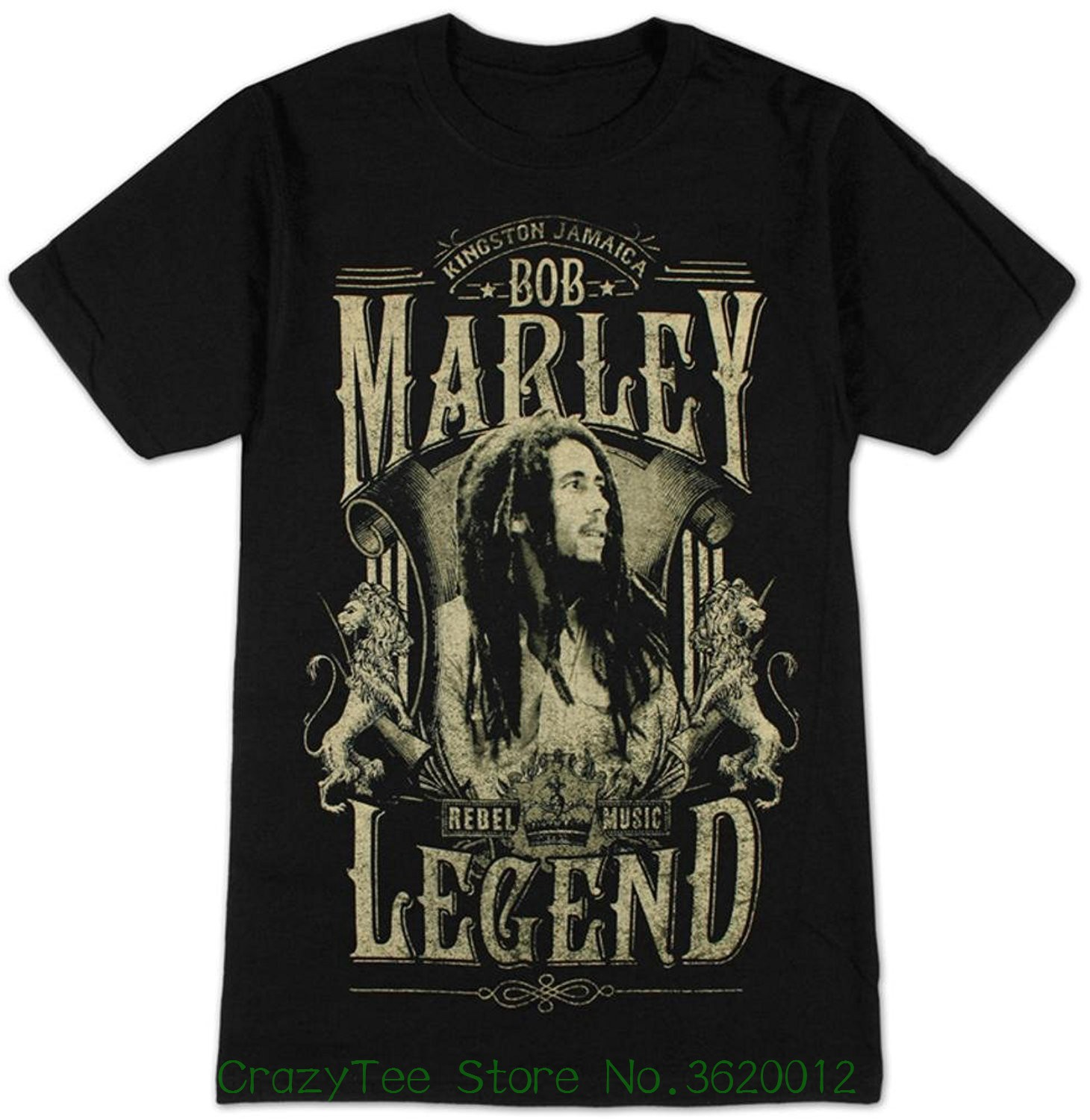100% Cotton   T     Shirts   Brand Clothing Tops Tees Bob Marley Men's Legend   T  -  shirt