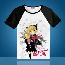 Tarjeta captor Cosplay kinomoto Sakura anime Cosplay camiseta de verano  perros estudiante Camisetas Tees(China 49a2c28c624d