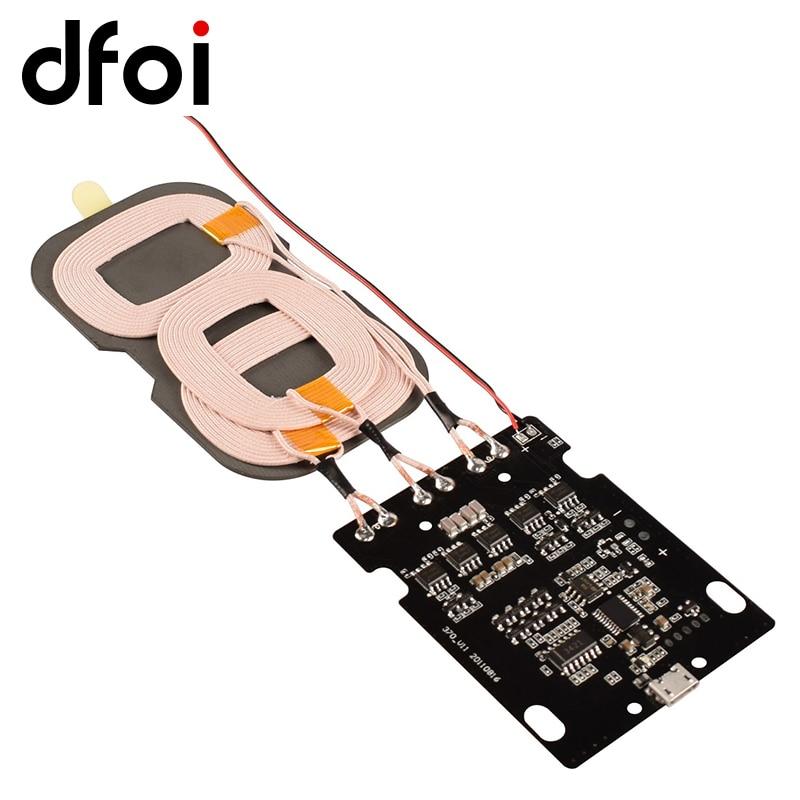 Dfoi 10w Fast Charging 3 Coils Qi Standard Wireless