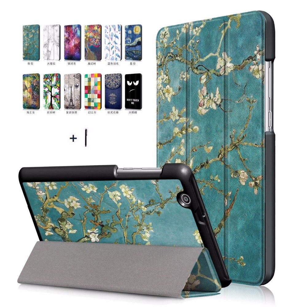Для huawei Mediapad T3 7 3g планшет чехол ультра тонкий для huawei Mediapad T3 7 3g Flip Стенд PU кожаный чехол + стилус