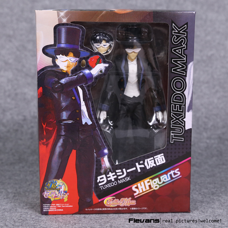 SHFiguarts Sailor Moon Tuxedo Mask Chiba Mamoru 20th PVC Action Figure Collectible Model Toy 16cm SAFG040 светофильтр kenko 58s realpro r 72 инфракрасный