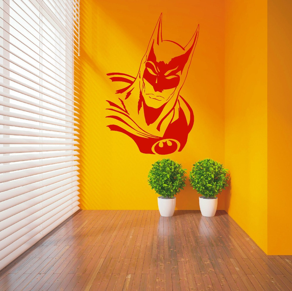 High Quality Art BATMAN SUPERHERO Vinyl Wall Sticker Fashion Kids ...
