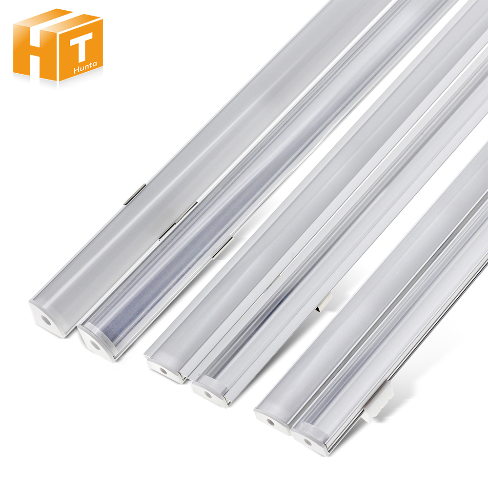 5pcs/lot LED Bar Light Aluminum Shell 50cm U V YW Style Shaped Channel Holder With Milky Or Transparent  Cover.