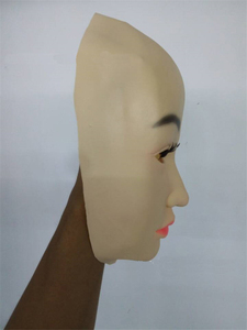 Image 3 - Top Grade Handmade Silicone Sexy And Sweet Half Female Face Mask Ching Crossdress Mask Crossdresser Doll Mask Lady Skin Mask toy