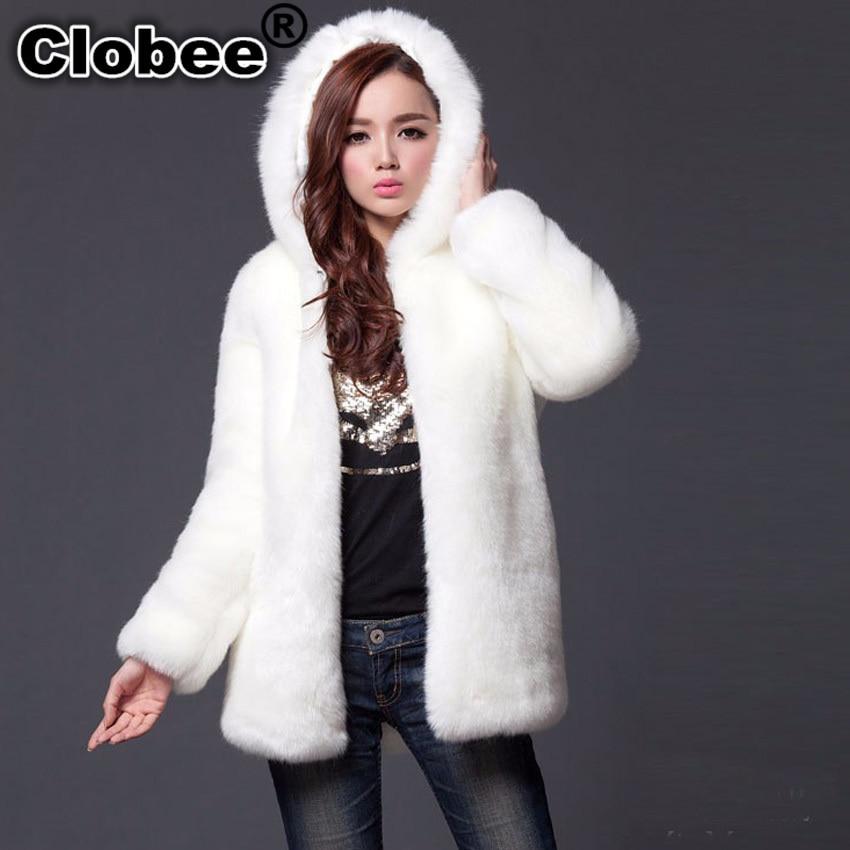Jackets & Coats Women's Clothing New Free Shipping Womens Plus Size Fashions Faux Fur Coat Winter Womens Black Overcoat Patchwork Fur Leather Furry Long Coat