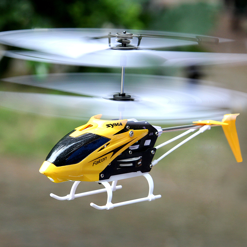 Image 3 - 100% Original SYMA W25 2CH Indoor Small RC Electric Aluminium Alloy Drone Remote Control Helicopter Shatterproof boys toys-in RC Helicopters from Toys & Hobbies