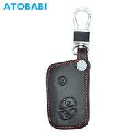 ATOBABI 3 BNTS Couro Genuíno Caso Chave Do Carro Saco de Chaveiro Para Lexus BYD S6 F3 L3 M6 F0 G3 S7 e6 G3R Inteligente Capa Shell Fob Remoto car key case cover key case for car smart key case -