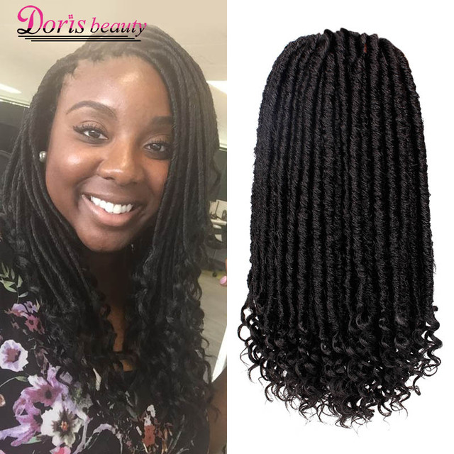 Doris Beauty Goddess Faux Locs Crochet Hair Soft Curly End Natural