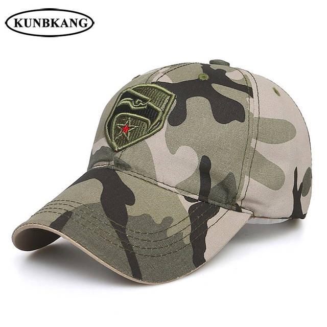 c3f7b2a3926f5 New Brand US Army Camo Baseball Cap Men Women Eagle Star Tactical Sun Dad  Hat Outdoor Casual Camouflage Snapback Trucker Caps