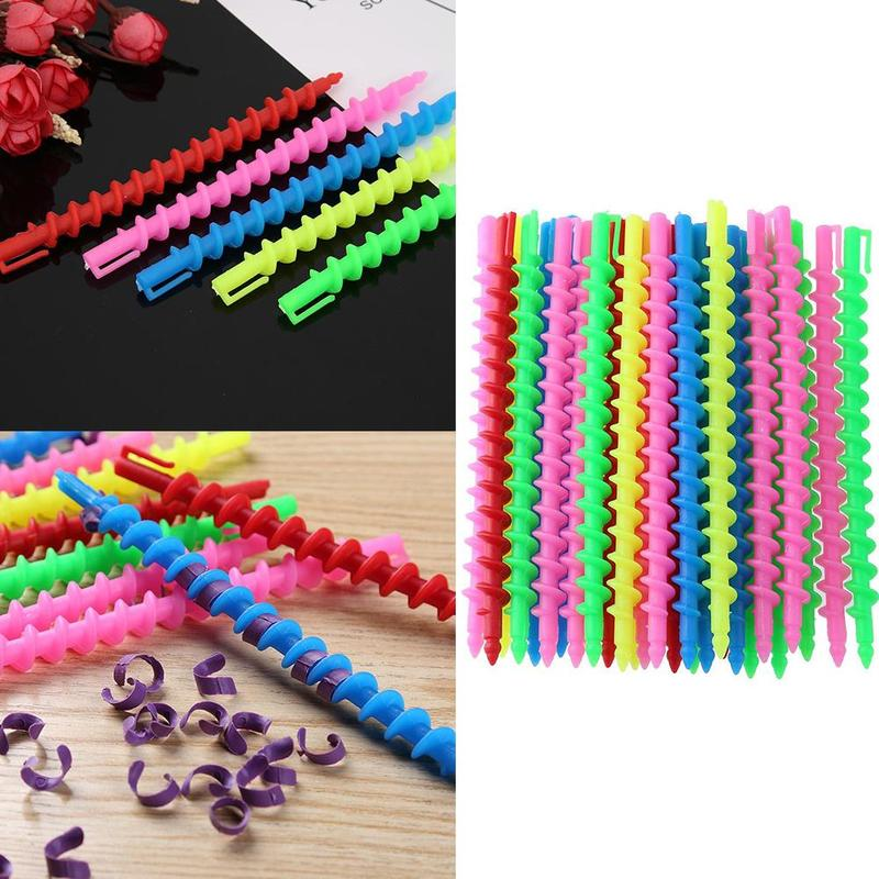 20/22/27PCS Plastic Long Styling Hair Curler Barber Salon Tool Hairdressing Spiral Hair Perm Rod Small Hair Accessories