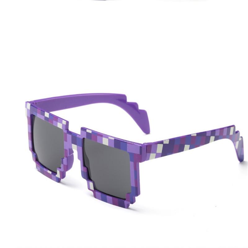810d23a87b ... 2018 Trendy UV400 Hot Minecraft Glasses 8 bit Pixel Women Men  Sunglasses Female Male Mosaic Sun ...