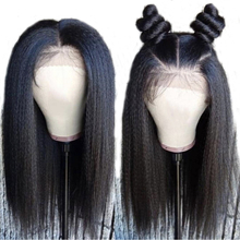LUFFYHAIR Brazilian Human Hair Lace Front Wigs Pre Plucked With Baby Hair Light Yaki Straight 13×6 Deep Part Remy For Women