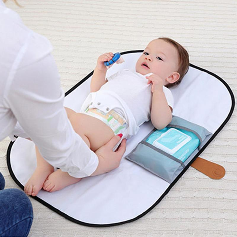 Portable Foldable Baby Diaper Changing Mat Waterproof Travel Nappy Change Floor Play Pad Baby Diapering Care Props Diaper Mat