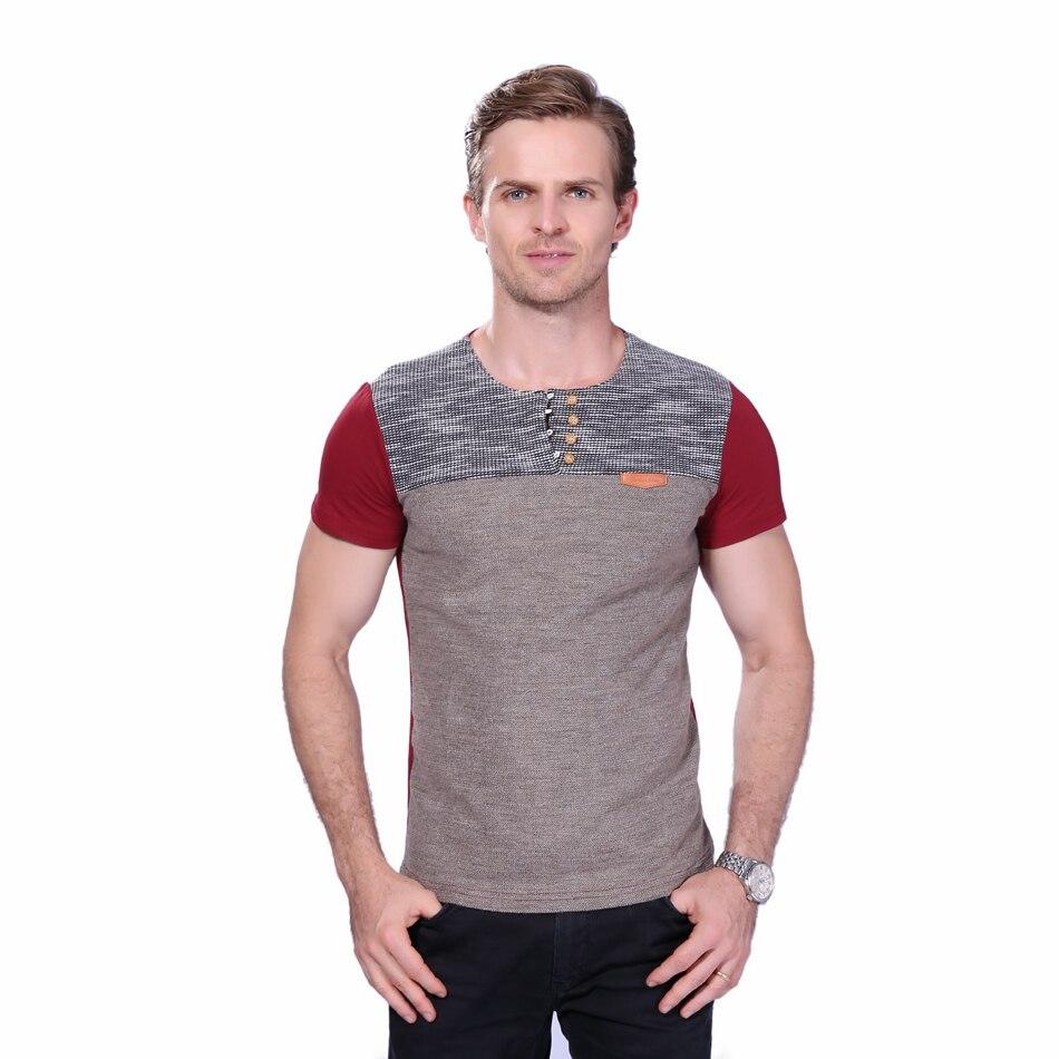 лето 2017 г. модные для мужчин футболка повседневное лоскутное короткий рукав футболка для мужчин с костюмы тенденция повседневное тонкая пригонка хип-хоп футболки Размер 5xl