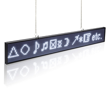 P5mm 16X96 Pixels SMD LED Programmable Scrolling Message Sign Board, PC software change messages (White)