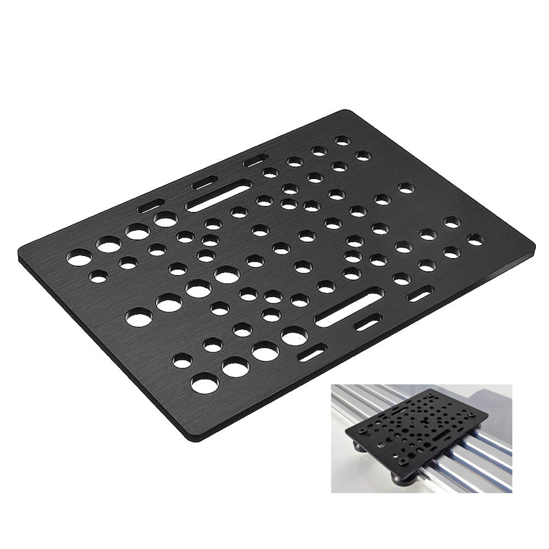 1Pcs Black Aluminum V-Slot Gantry Plate 20-80mm For CNC Router Machine 2080 V-Slot Linear Rail Aluminum Profiles Extrusion
