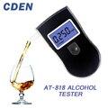 Профессиональный алкотестер, цифровой анализатор дыхания с быстрой выдачей результата, с ЖК-экраном, для водителей, AT818