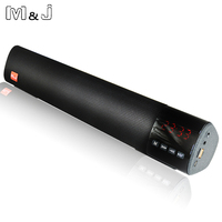 M&J 10W HIFI Portable Wireless Bluetooth Speaker Stereo Soundbar TF FM USB 3D Surround Subwoofer Column for Computer TV Phone