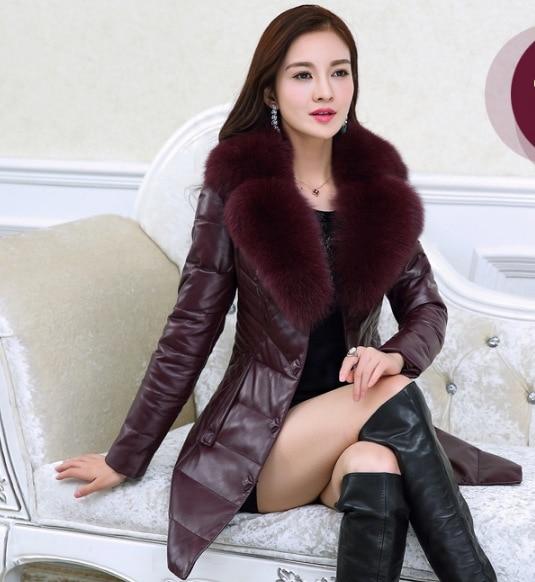 M Cuir 2 Taille 3 Slim Vêtements Fourrure Augmenter Section Col 1 5 Veste La 6 En 2018 Longue Coréenne Coton 4 4xl De Nouvelles Femmes nqRZP