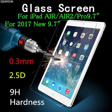 Закаленное стекло для защиты экрана для iPad Air 1 Air 2 Pro 9,7 дюйма/Новинка 2017 2018 Взрывозащищенная прозрачная защитная пленка|screen protector for ipad|screen protectorfor ipad air | АлиЭкспресс