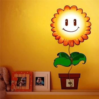 3D papel pintado pared enchufe luz de noche bebé niños dormitorio lámpara de noche 4