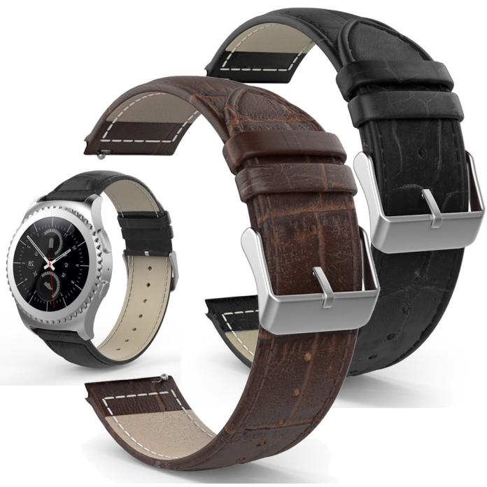 Drop shipping bracelet En Cuir Véritable Montre de Courroie De Bande Pour Samsung Galaxy Vitesse S2 Classique SM-R732 Octobre 12