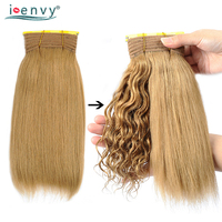 Ienvy Color 27 Brazilian Human Hair Curly Bundles Loose Deep Wave 3 Pcs Deals Gold Blonde Wet And Wavy Bundles Nonremy 10 26Inch