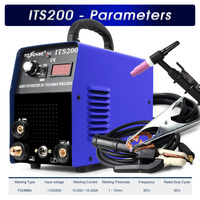 ITS200 200A 110V/220V 5.8KVA IP21S Tosense Inverter Arc TIG 2 IN 1 Electric Welding Machine MMA Welder for Soldering Working