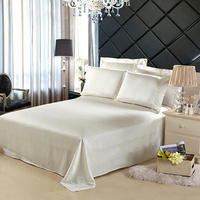 Silk Flat Sheet 1pc 100% Mulberry Silk 19mm Seamless Solid Color Comfortable Customizable Size ls030019002