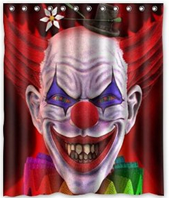 evil red hair clown pattern design