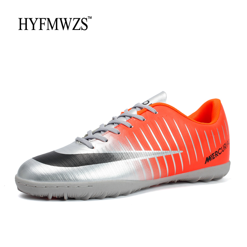 HYFMWZS 2018 Men Sport Shoes High Quality Mens TF Soccer Shoes Superfly Antiskid Boys Soccer Shoes Cheap Football Shoes 3.5-9(China)