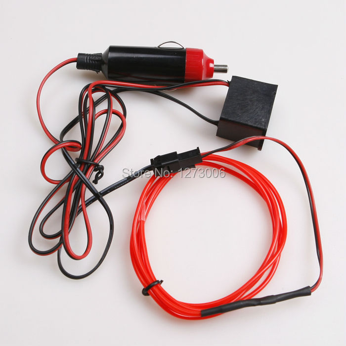 12V Car 1M Wire Inverter Refit Light 4 Colors 360 degrees LED Glow ...