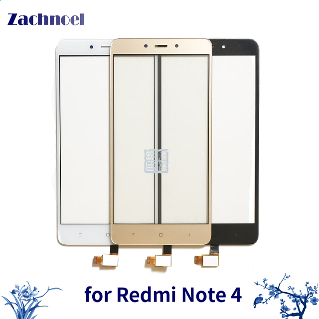 10pcs/lot Touch for Xiaomi Redmi Note4 Digitizer Touch Screen Digitizer Glass Panel Touch Replace Parts for Xiaomi Redmi Note 4