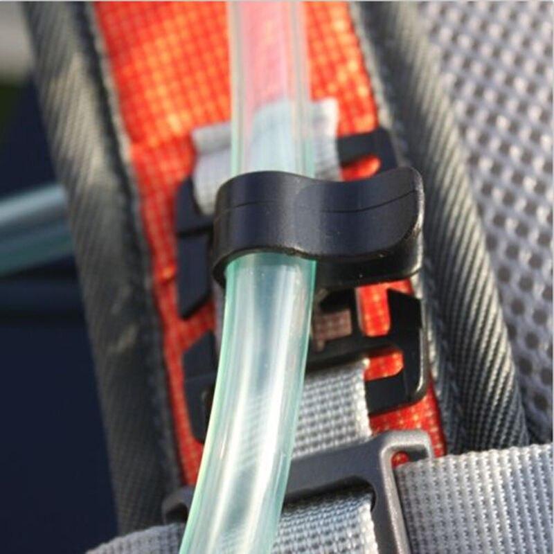2PCS Hydration Bladder Tube Trap Hose Clip Strap For Molle Fits Camelbak EL