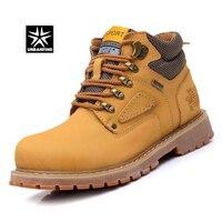 Urbanfind الدانتيل متابعة الرجال الأزياء أحذية الاتحاد الأوروبي 38-44 المعمرة المطاط وحيد رجل nubuck جلد الكاحل أحذية براون/أصفر