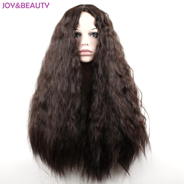 """JOY&BEAUTY 24"""" Long Synthetic High Temperature Fiber Hair Long Curly Wig Black/Brown Mix Women Cosplay Wig"""