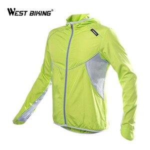 Image 3 - Ветровка велосипедная WEST BIKING с длинным рукавом, спортивная уличная куртка, ветрозащитная водонепроницаемая одежда