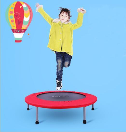 48 inch 122cm folding trampoline children spring jumping bed indoor baby bounce bed fitness. Black Bedroom Furniture Sets. Home Design Ideas