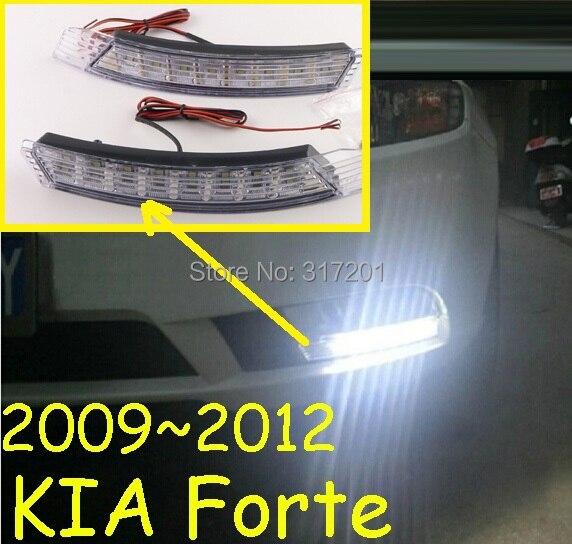 2009~2013 KIA Forte Daytime Light, fog light,2pcs/set,Forte headlight,8W 12V,6500K,Free Ship! - NoBonn Autoparts lighting Co;Ltd store
