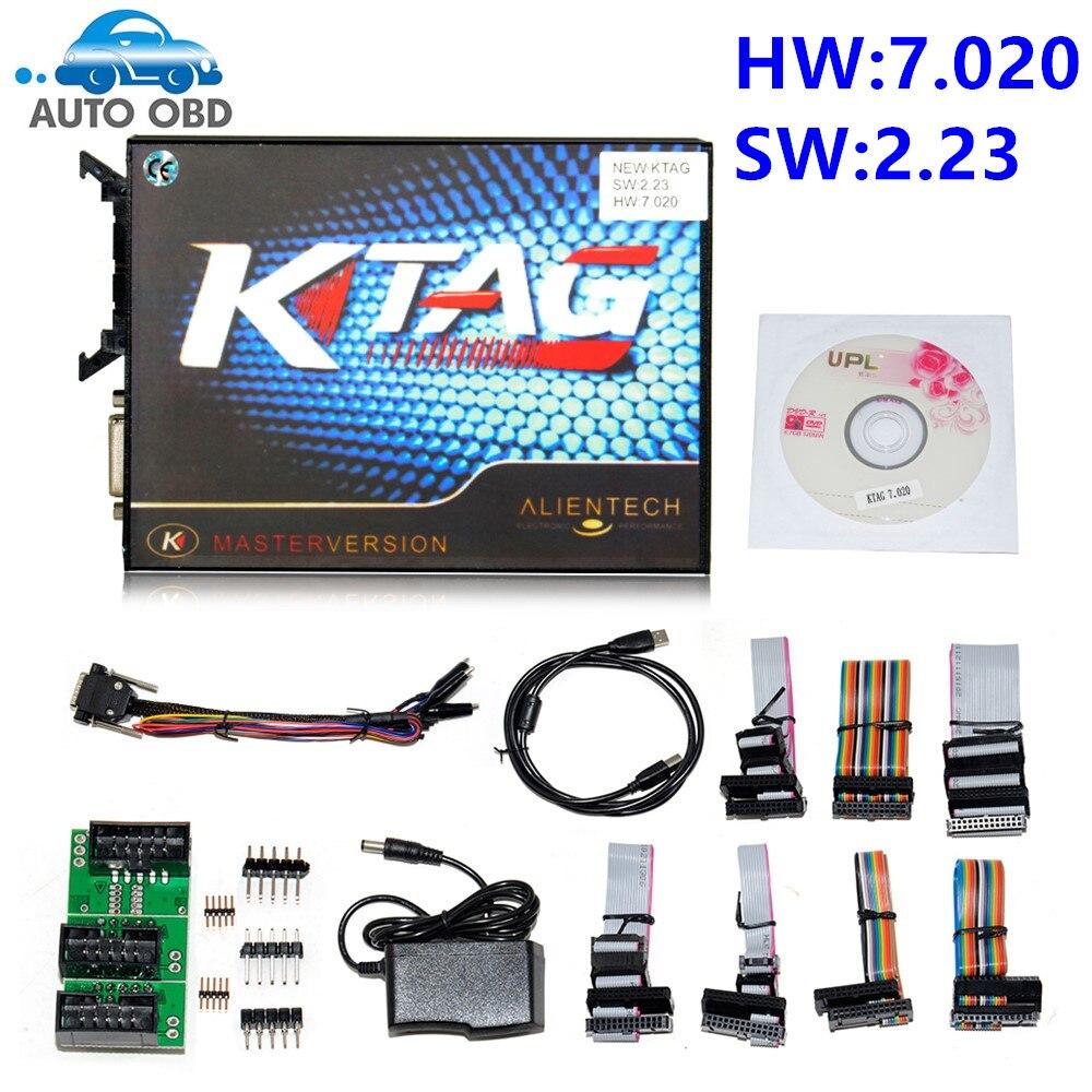 Цена за Новые 2017-KTAG V7.020 V2.23 k тег 7.020 Нет Маркер предел 7020 ЭКЮ программист K-TAG мастер чип инструмент настройки V6.070 обновление