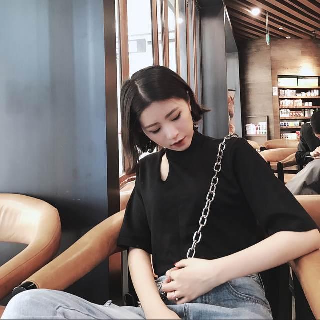 1c6443c3a2a32e YouGeMan Woman Shirt Top 2019 Spring Summer Korean Style Ulzzang Harajuku  Rings Short Sleeve T-