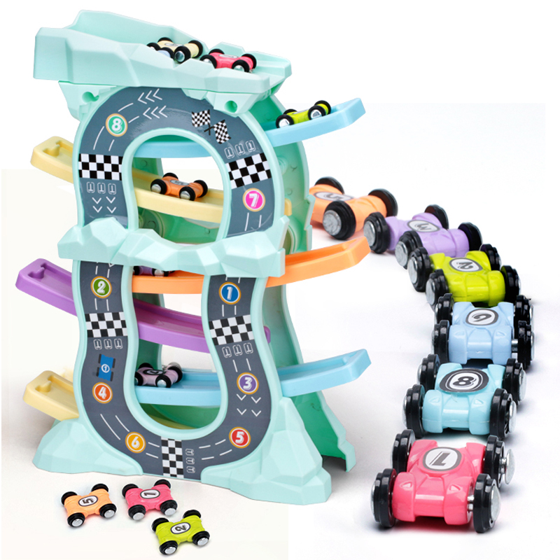 Gliding Car Set Slot Track Toys Slide Board Track Friction Car Toy  Boys Girls Magic Racing Cars Model  For Kids Gifts