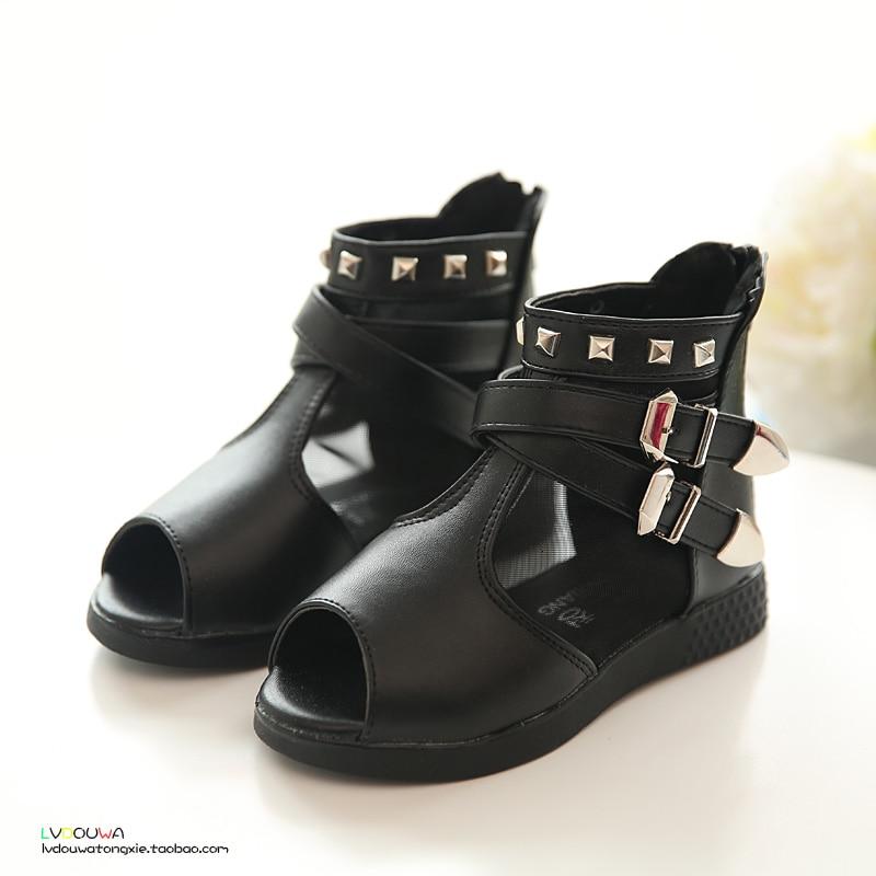 B d summer kids shoes children sandals girls fish head pu for Fish head shoes