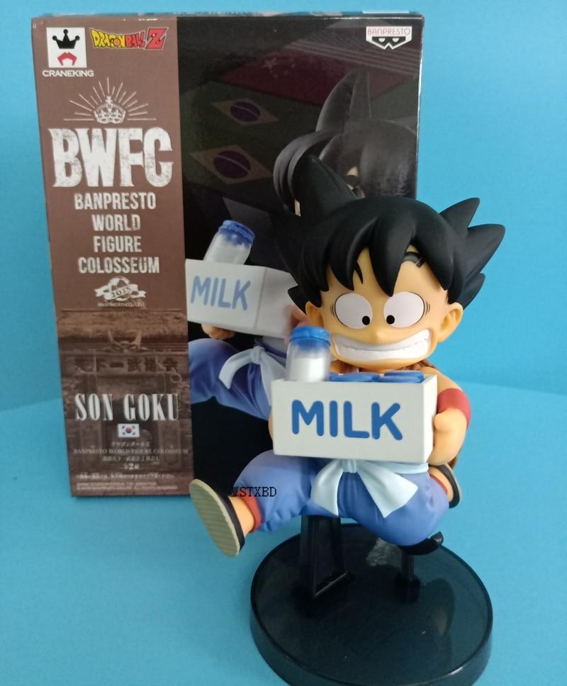 In Stock WSTXBD BANPRESTO DRAGON BALL Z WORLD FIGURE COLOSSEUM2 BWFC2 Milk Kid Goku Toys Figurals Model Dolls Brinquedos Vol.07
